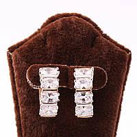 """Серьги-кольца xuping jewelry """"Кристаллы"""""""