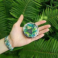 """Карманное зеркало ZIZ """"Пальмовые листья"""" 27004"""