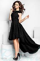 Пышное платье шлейф. Цвет черный.