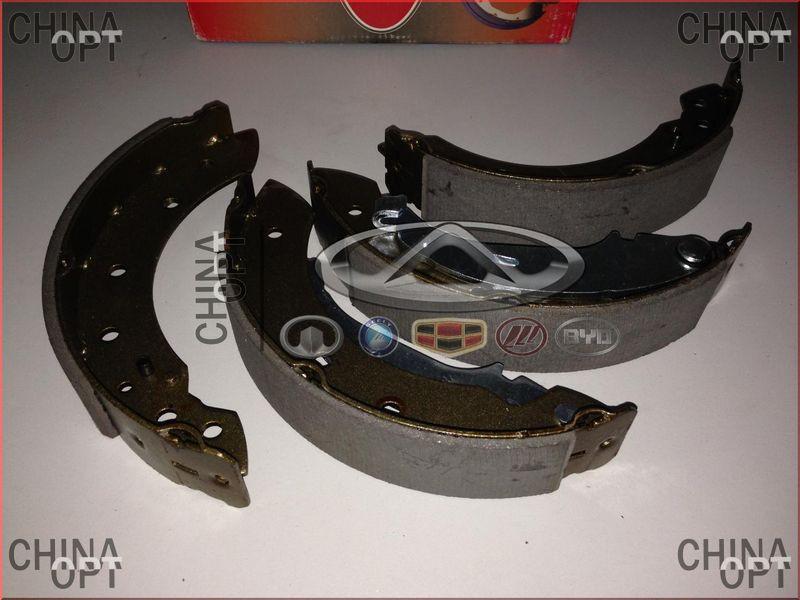 Колодки тормозные задние, барабанные, Lifan 520 [Breez, 1.6], L3502101, LPR