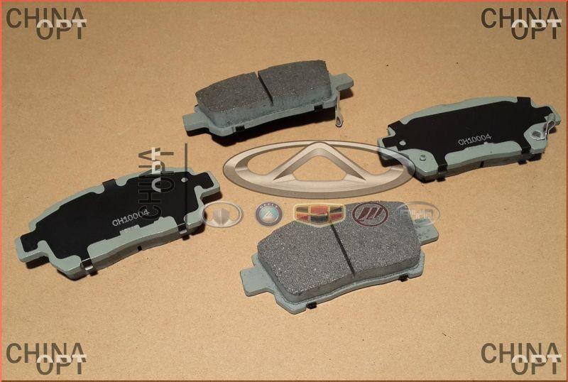 Колодки тормозные передние, Geely MK2 [1.5, с 2010г.], 1014003350, Aftermarket