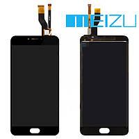 Дисплейный модуль (дисплей + сенсор) для Meizu M3 Note (версия M), черный, оригинал