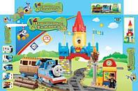 Игрушка паровозик Томас JIXIN 8288C, замок, вокзал, факел, 3 фигурки