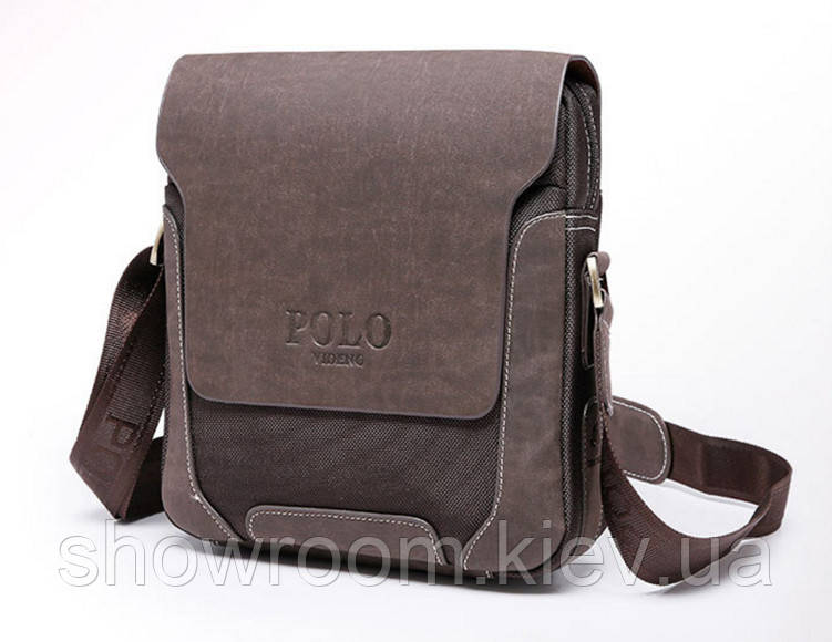 Сумка мужская Polo (8901) коричневая