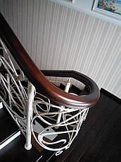 Кованые перила с деревянным поручнем, фото 3