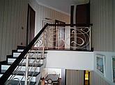 Кованые перила с деревянным поручнем, фото 2