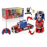 Трансформер 28128, игрушка Робот трансформер Оптимус Прайм, свет, звук, р/у, трейлер, аккум., в коробке