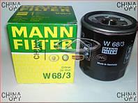 Фильтр масляный (479Q*, 481Q) Geely MK1 [1.6, -2010г.] E020800005 Mann [Германия]