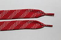 Шнурки плоские 15мм. красный+белый, фото 1