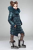 Теплая куртка модного фасона
