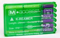 К-ример m-эксес 25мм 15-40 6шт (эндодонтический инструмент для лечения корневых каналов зубов)