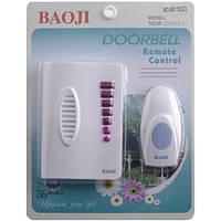 Звонок Baoji 8517E DС: беспроводной, радиус радиосвязи 100 м, 36 мелодий, регулировка громкости