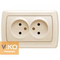Розетка двойная без заземления крем Viko (Вико) Carmen (90562055)
