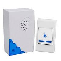 Звонок Baoji 308 AC: беспроводной, звонок 9,1x6,1 см, кнопка 8х4,4 см, 32 мелодии, 12V/100-240V