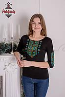 Жіноча вишиванка Гуцульська бірюзова