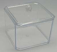 Подставка для ватных палочек прямоугольная с крышкой PBS-02 YRE