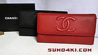 Женский кожаный кошелёк/клатч Chanel