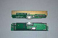 Шлейф (Flat cable) с коннектором зарядки, микрофона, виброзвонка для Lenovo S890