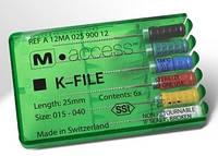 Каналорасширитель эндодонтический к-файл м-эксес 25мм 015-40 6шт