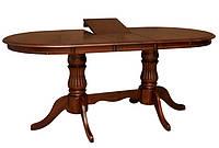 Кухонный стол обеденный раскладной Анжелика V 1500(+400)*900*750 каштан