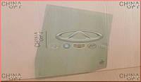 Стекло двери заднее R, зеленая тонировка, Chery Amulet [до 2012г.,1.5], ЛИЦЕНЗИЯ