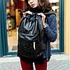Городской рюкзак с паетками на кармане, фото 2