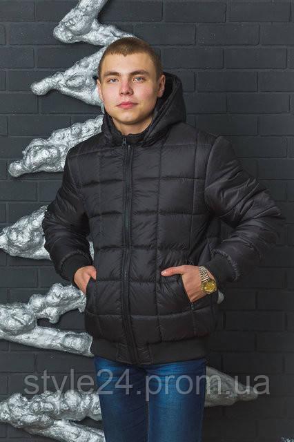 Чоловіча зимова стегана куртка на флісі.Розміри 44-60