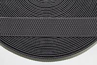 Резинка декоративная 40мм, т.серый , фото 1