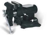 Тиски слесарные поворотные с наковальней PROMA VS-125