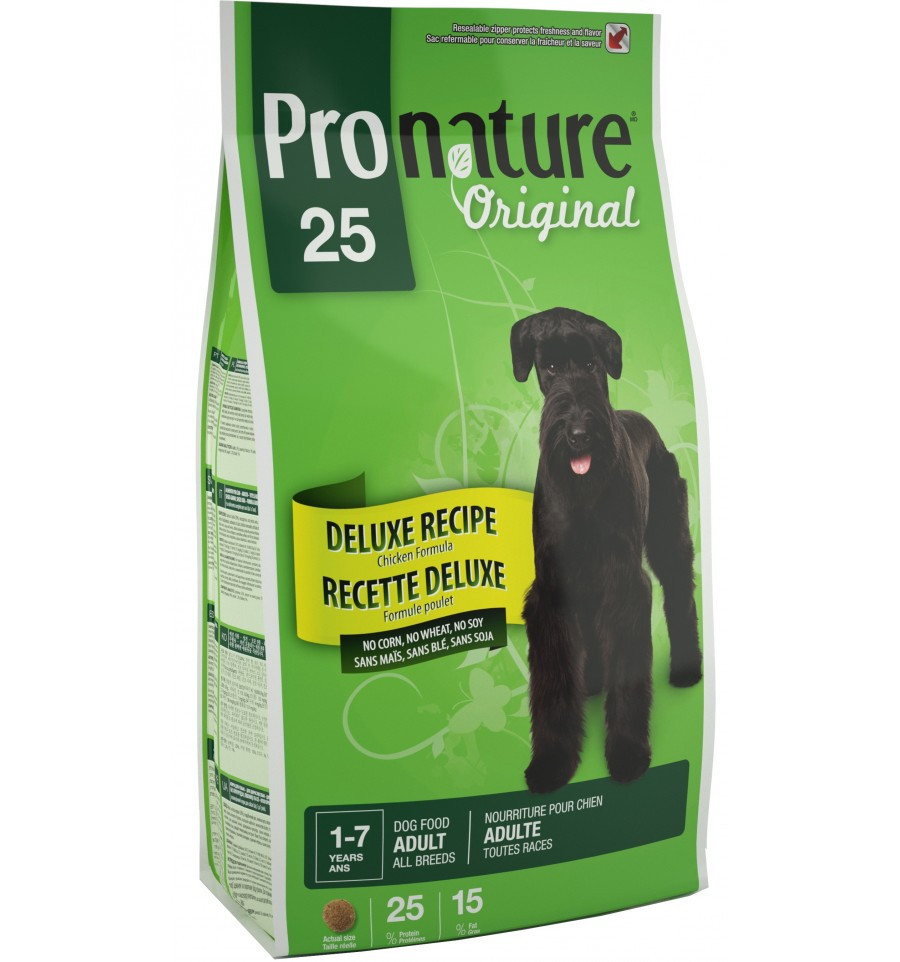 Pronature Original DELUXE Adult 7.5 кг -корм для собак всех пород с чувств. пищеварением(курица/рис)
