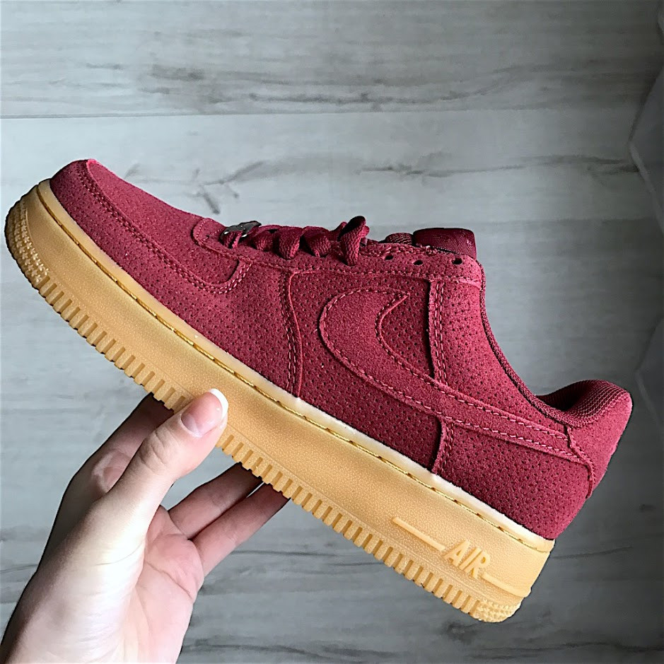 Кроссовки Nike Air Force 1 Red Maroon Gum.