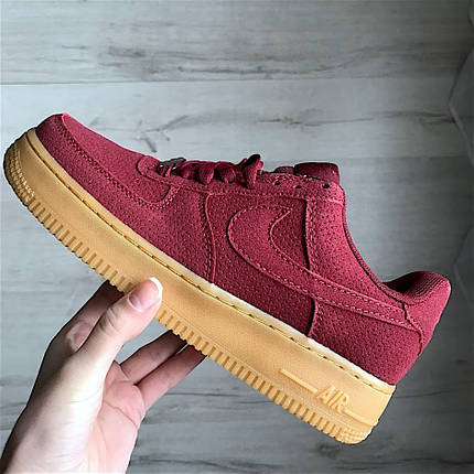 Кроссовки Nike Air Force 1 Red Maroon Gum., фото 2