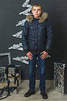 Зимова чоловіча куртка з мехом.Розміри44-58