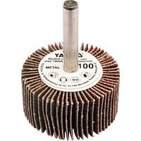 YATO Круг  Ø= 40 мм з наждачних пелюстків К150, з захватом до дрилі, 20х6 мм