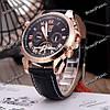 Мужские наручные часы скелетоны Jaragar Turboulion с автоподзаводом золотистые, фото 4