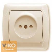 Розетка без заземления со шторками крем Viko (Вико) Carmen (90562043)