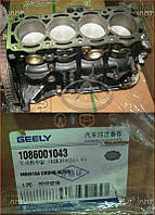 Блок цилиндров (481Q, 1.6, в сборе) Geely MK1 [1.6, -2010г.] 1086001043 Китай [оригинал]