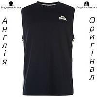 Майка Lonsdale мужская темно синяя для тренировок спортивная | Майка Lonsdale чоловіча для тренувань спортивна