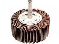YATO Круг  Ø= 60 мм з наждачних пелюстків К100, з захватом до дрилі, 30х6 мм