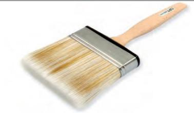 Кисть плоская с деревянной ручкой абсолют 30 мм QPT