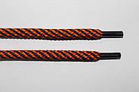 Шнурки круглые 5мм т.синий+оранжевый , фото 1