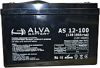 Аккумулятор гелевый ALVA AS12V100AH 12V 100AH, для ИБП