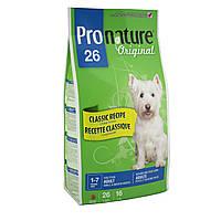 Pronature Original (Пронатюр) SMALL & MEDIUM Adult -корм для собак мелких и средних пород (курица/рис), 7.5кг