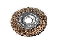 Щетка дисковая 150х22,2 мм для УШМ латунированная рифленая проволока MASTERTOOL