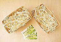 Подарочная корзиночка с сеном малая, Ш100хГ170хВ70мм