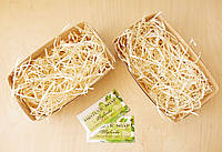 Подарочная корзиночка с сеном малая, Ш100хГ170хВ70мм, фото 1