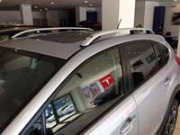 """Рейлинги Subaru XV  Crown (тип skyport), сплошный алюминий, цвет """"Серый"""