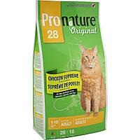 Pronature Original (Пронатюр) Cat ADULT CHICKEN SUPREME 5.44кг - корм для кошек - курица сюприм