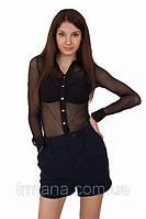 Рубашка сетка 083 черная, фото 1