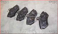 Колодки тормозные передние (CK без ABS, с пружинками) Geely CK1F [2011г.-] A11-3501080 Китай [аftermarket]